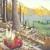 "renee adams: ""Gas Plant"", egg tempera on panel, 2013, 6"" x 6"" x 6"""