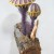 "renee adams: ""Violet Bruiser"", epoxy clay, acrylic paint, wood, flocking, 2012,12""x6""x8"""