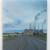 Cruising the Strip (Coalstrip, Montana), oil on board